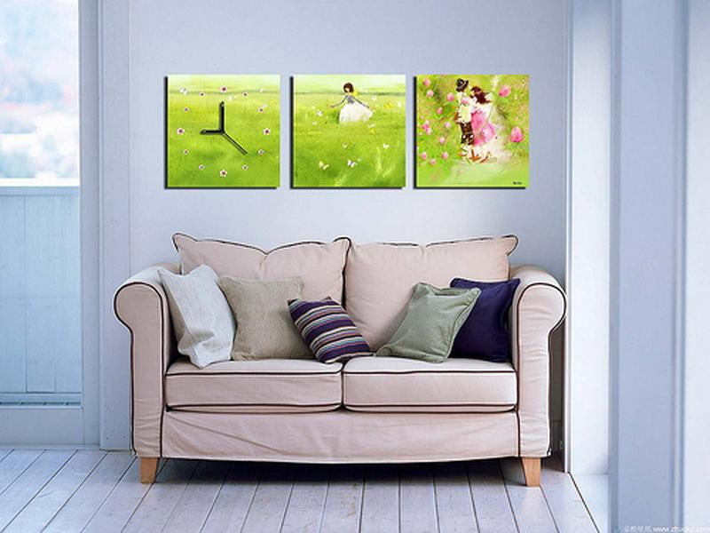 Green Living Room Wall Decor