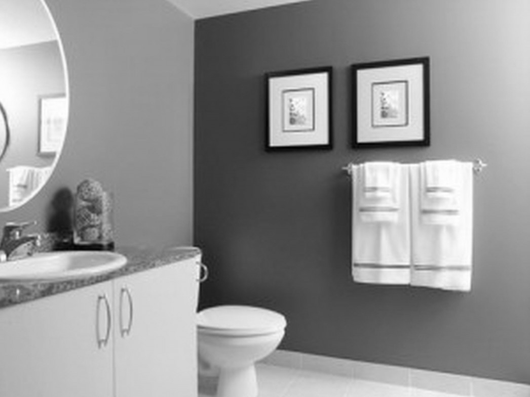grey paint color combinations. grey paint colors used in comfy bathroom with white vanity and sink under wide round wall color combinations i