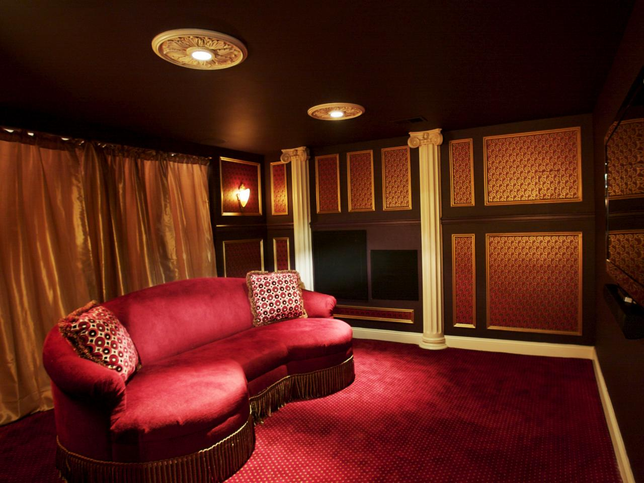 that way you can get the right vibe of the movie theater in your home