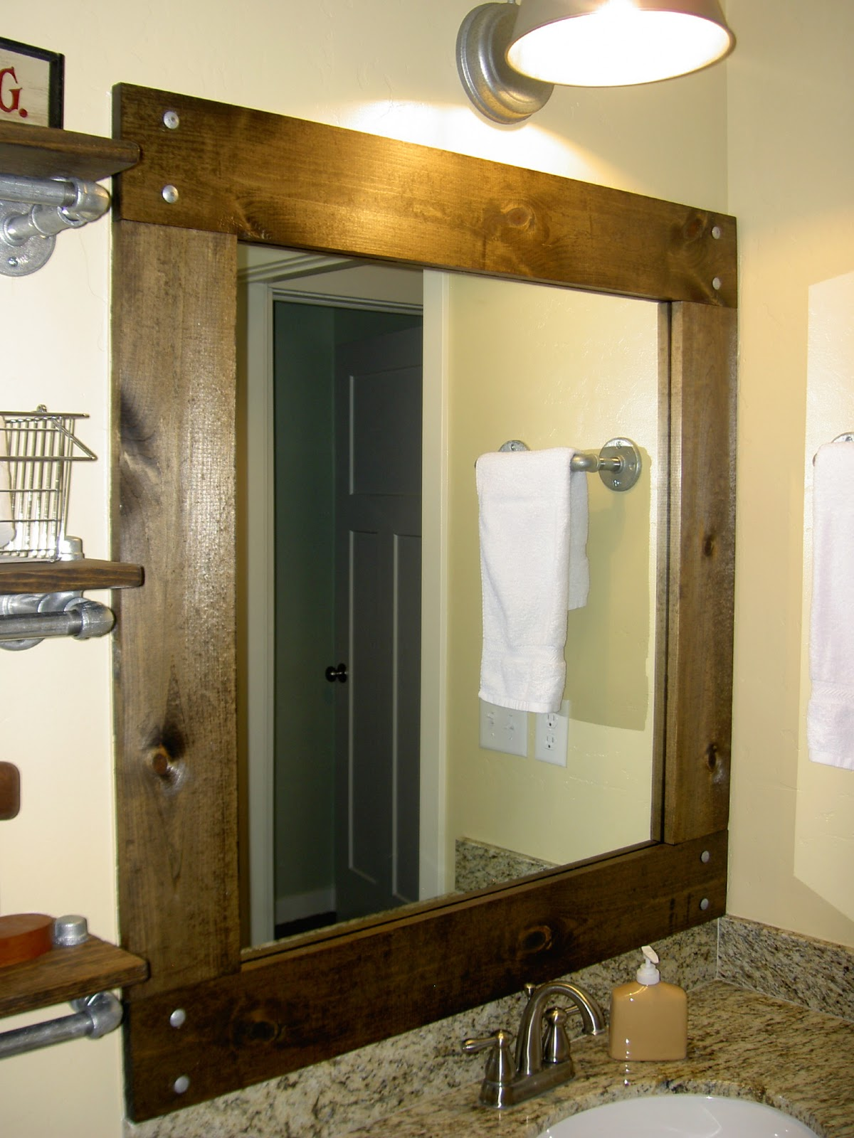 Tips framed bathroom mirrors midcityeast for How to frame mirror in bathroom