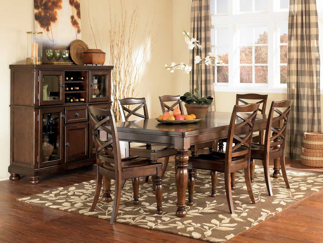 Interesting Grey Dining Room Rugs Placed under Old Fashioned Dining Table and Oak Chairs