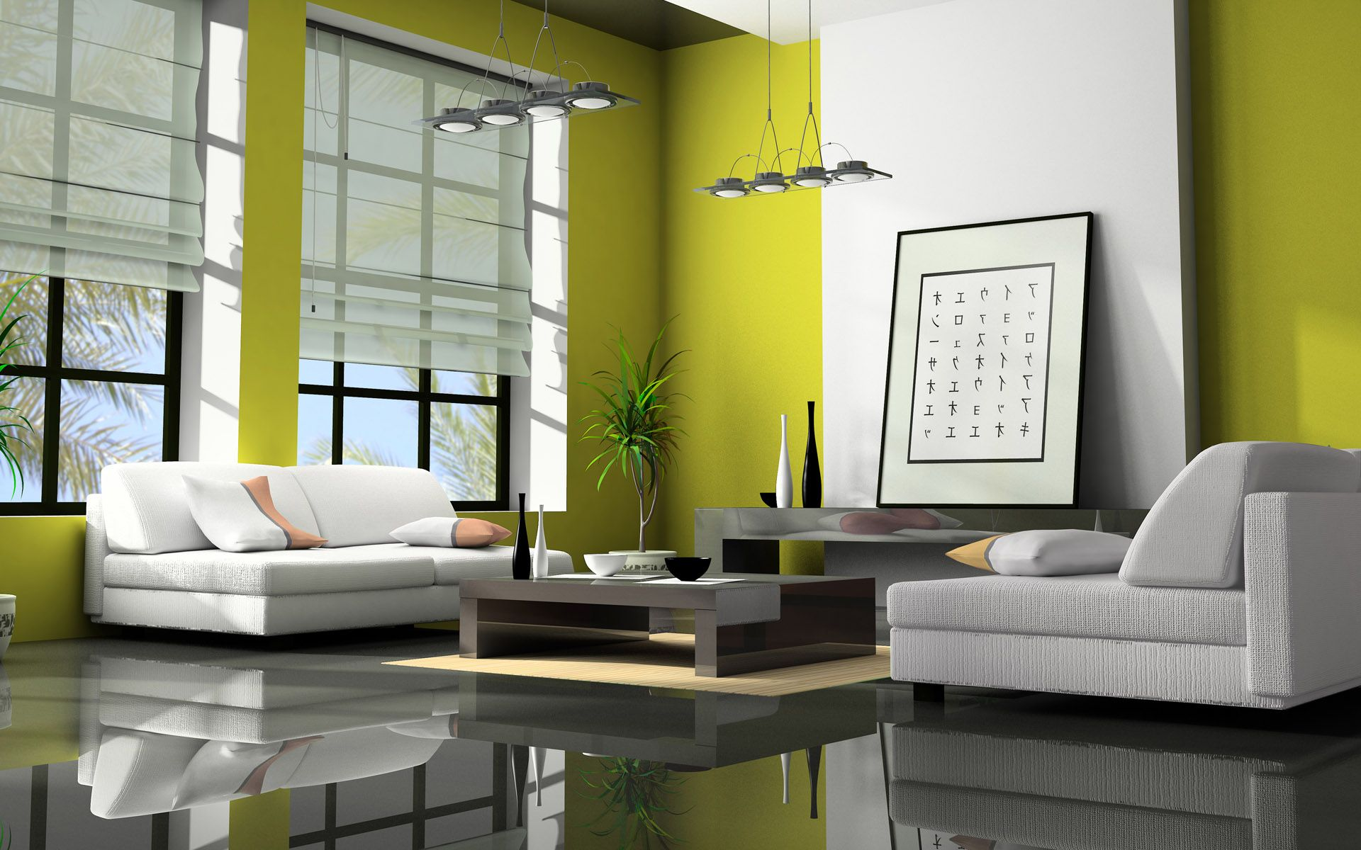 Interesting Living Room Using Green Feng Shui Colors Near Wide Sofas And  Grey Coffee Table On Part 57