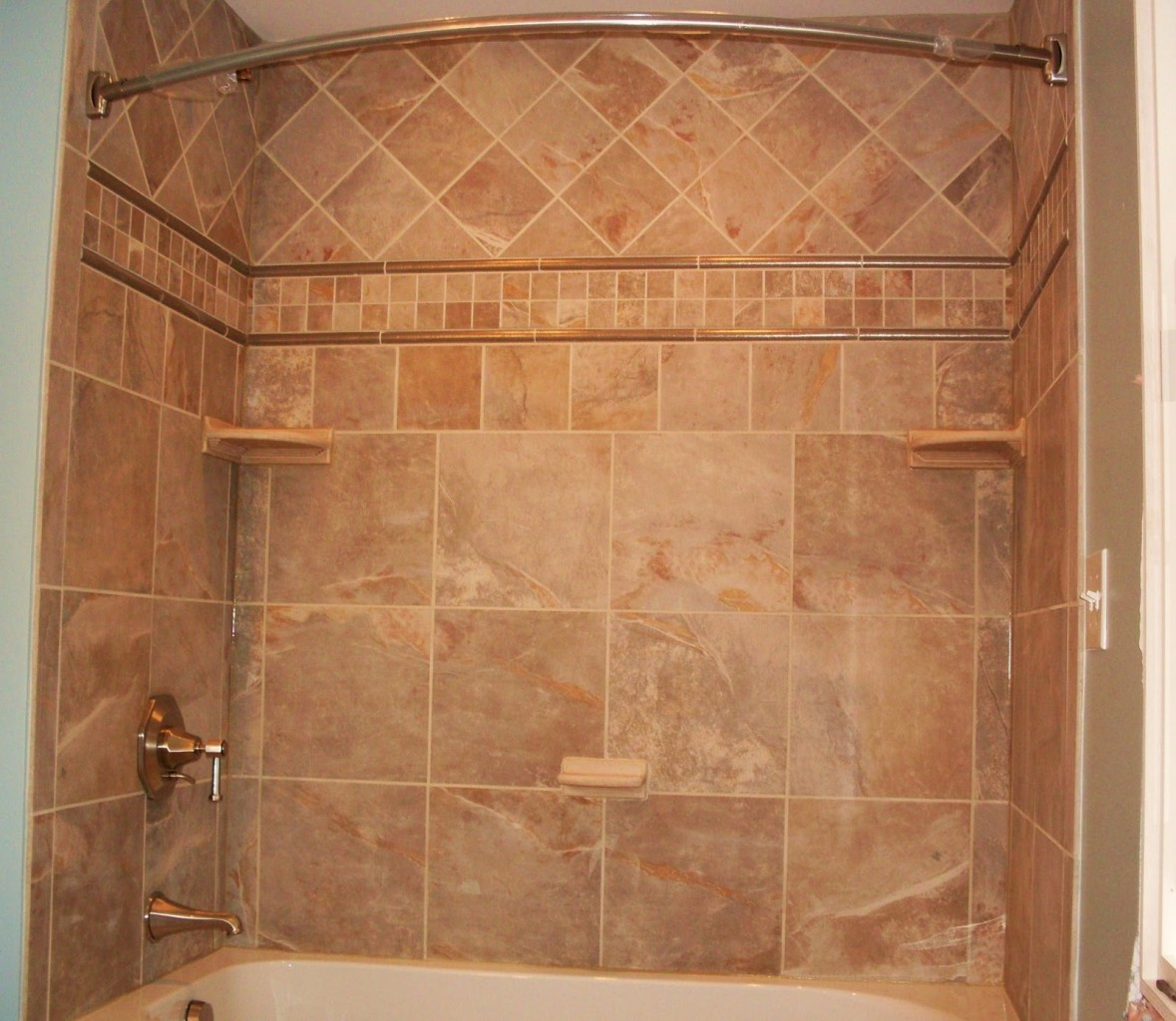 Ideas for shower tile designs midcityeast for Granite and tile bathroom ideas