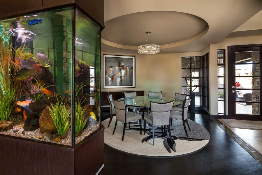 Marveoulus Aquarium Decor in Large Living Room with Chic Design