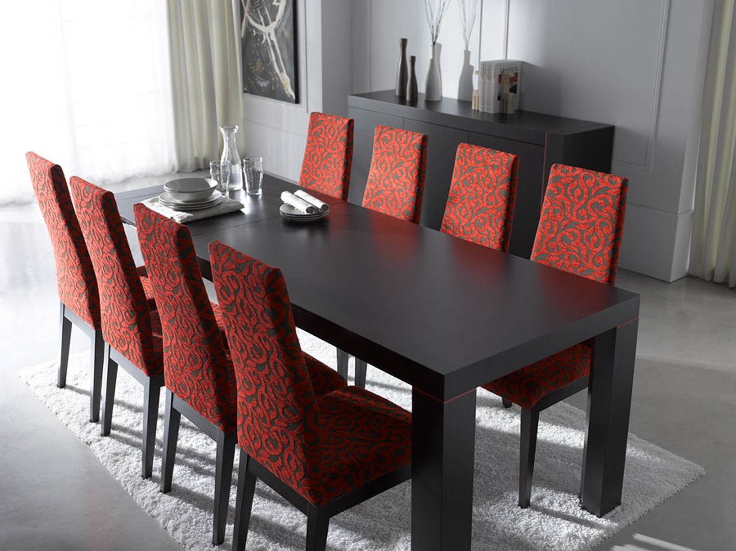 Decorating a dining room with modern dining sets midcityeast for Stylish dining table set