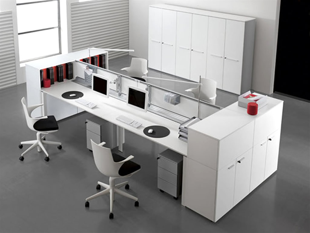 Guides to buy modern office desk for home office midcityeast for Modern white office