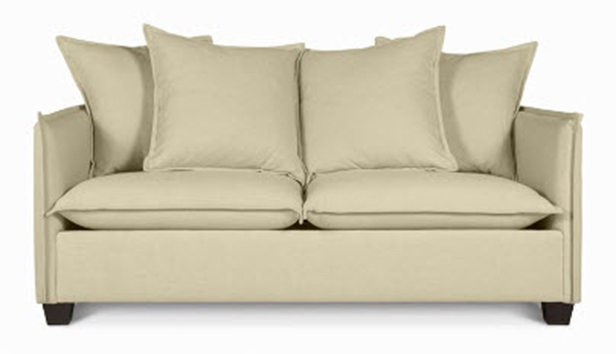 Neat Design of Apartment Size Sofa With Charming Seat and Back