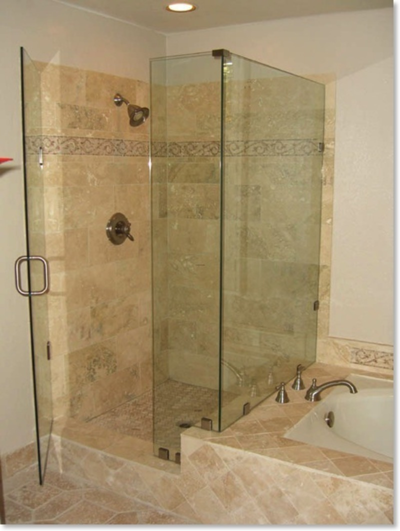 Neat Wall Decor also Visible Glass Door For Small Shower Ideas