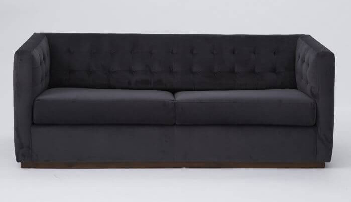 Perfect Design of Black Queen Size Sofa Bed With Tufted Back