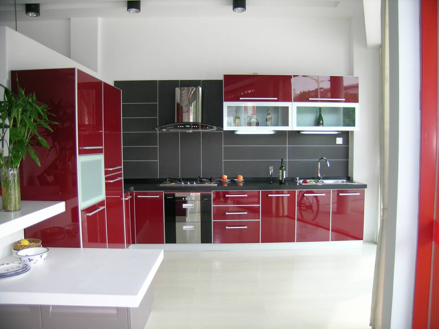 the Right Stylish Red Kitchen Cabinets for Any Styles of the Kitchen