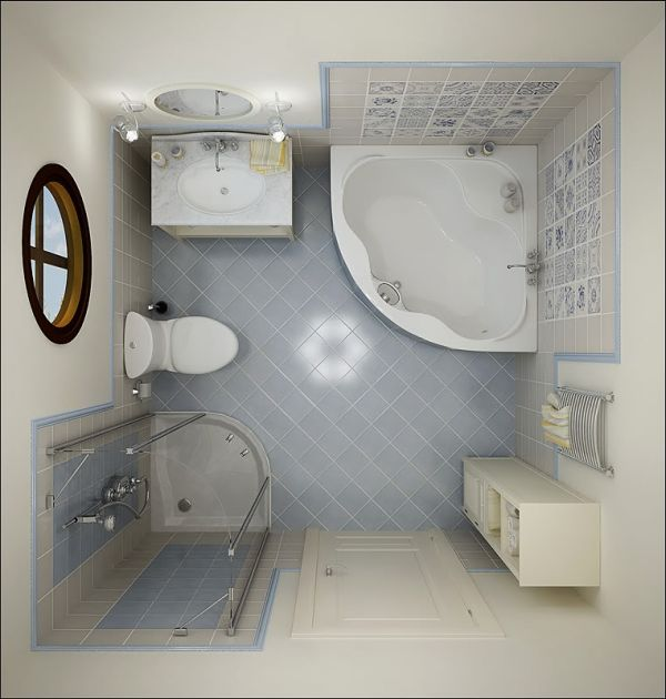 Attractive Pure Ambience From White Furniture In Small Bathroom Layout With Best  Circle Window Amazing Pictures