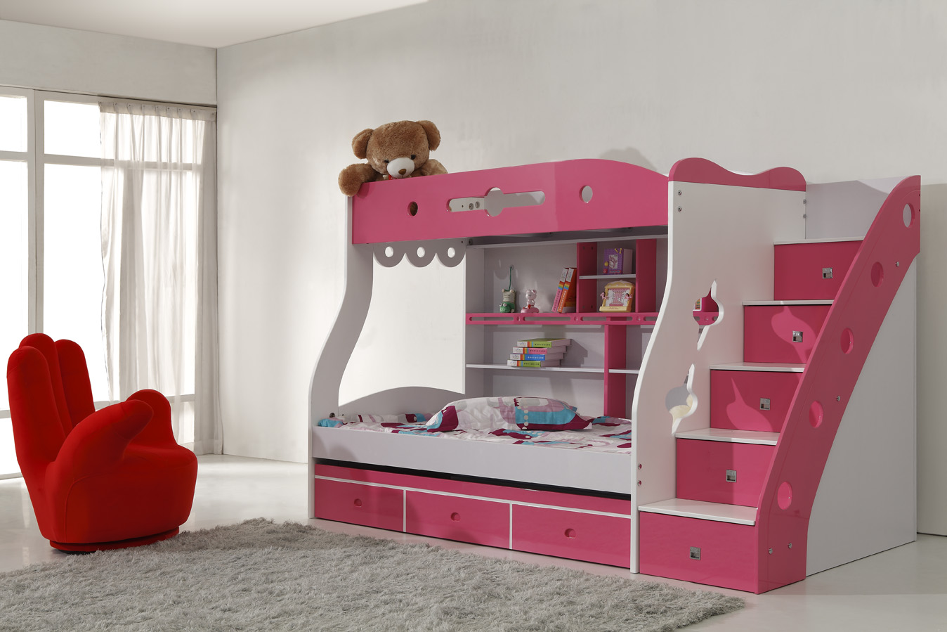 Purple Girl Bunk Beds Design Ideas