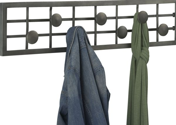 Simple Design for Wall Mount Coat Rack with Dark Color Accent plus Nice Circle