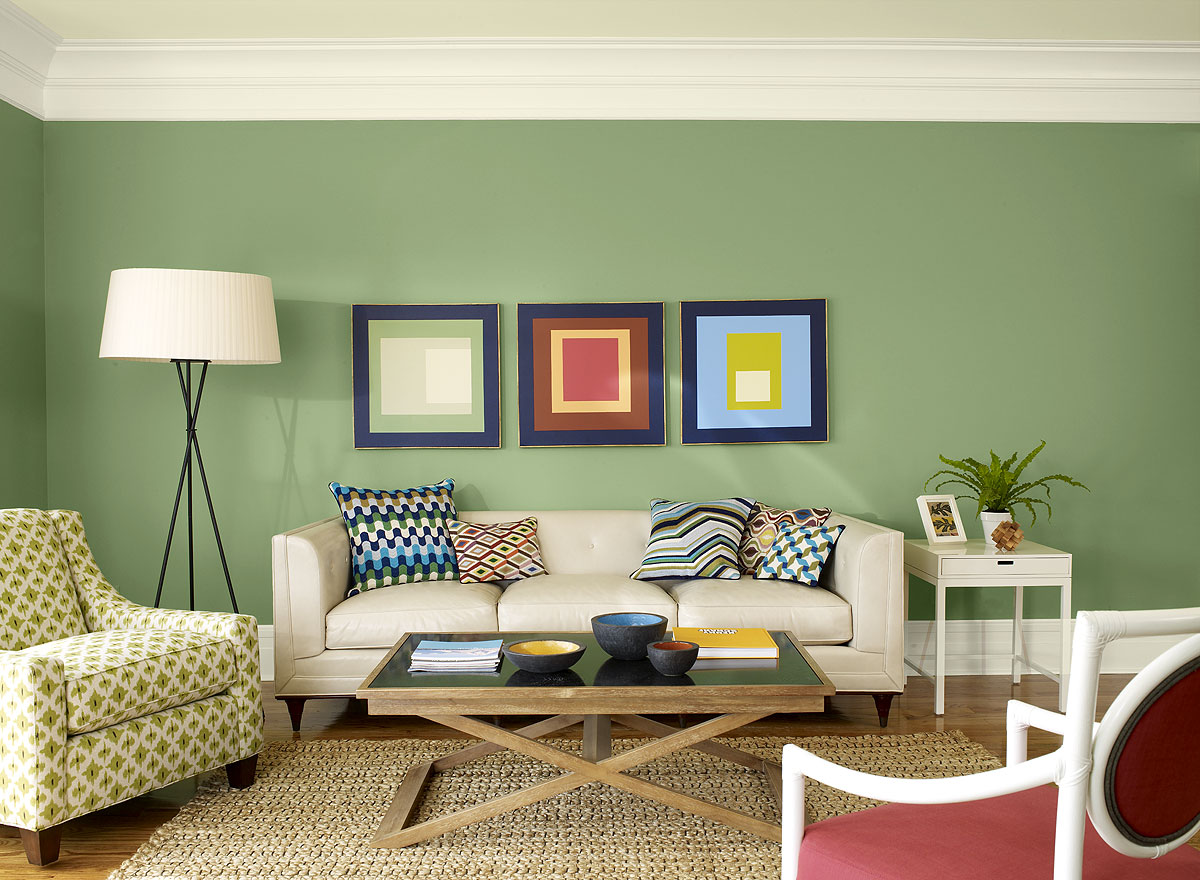 Merveilleux Square Cushions On Grey Sofa Inside Comfy Sitting Room With Interesting Living  Room Paint Ideas
