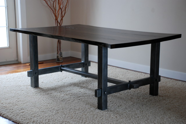 Taking Design Dining Table Using Metal Legs And Wooden To