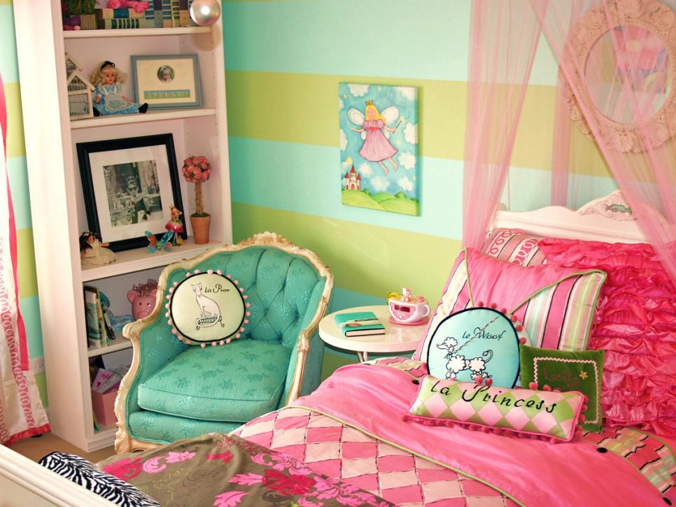 Tantalizing Bed With Mosquito Net Beside Arm Chair For Girl Room