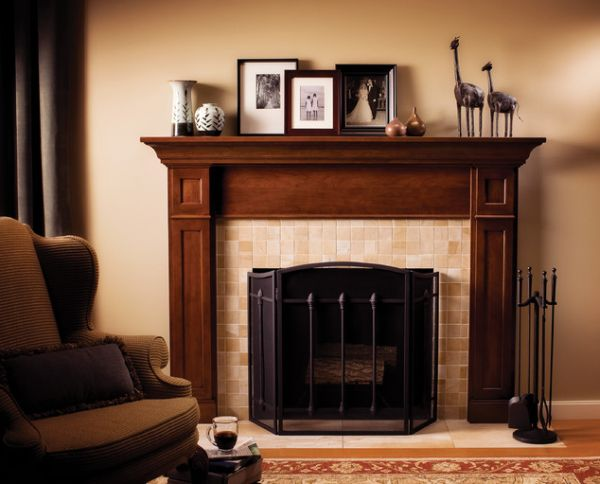 Merveilleux Traditional Ambience From Fireplace Tile Ideas With Wooden Element And Dark  Color Accent