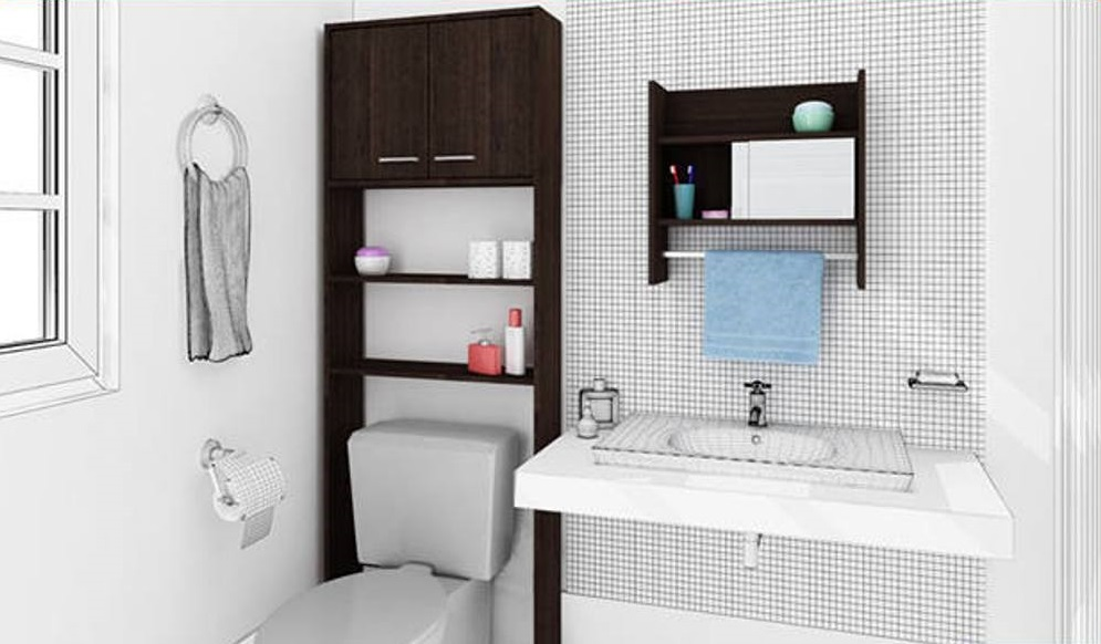 Use Awesome Bathroom Space Saver Idea For Small Bathroom With Unique