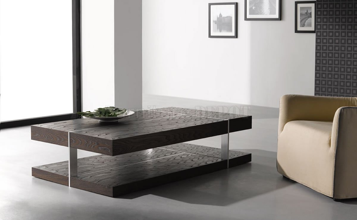 Use Contemporary Living Room Table for Spacious Room with Cream Sofa on Grey Concrete Flooring