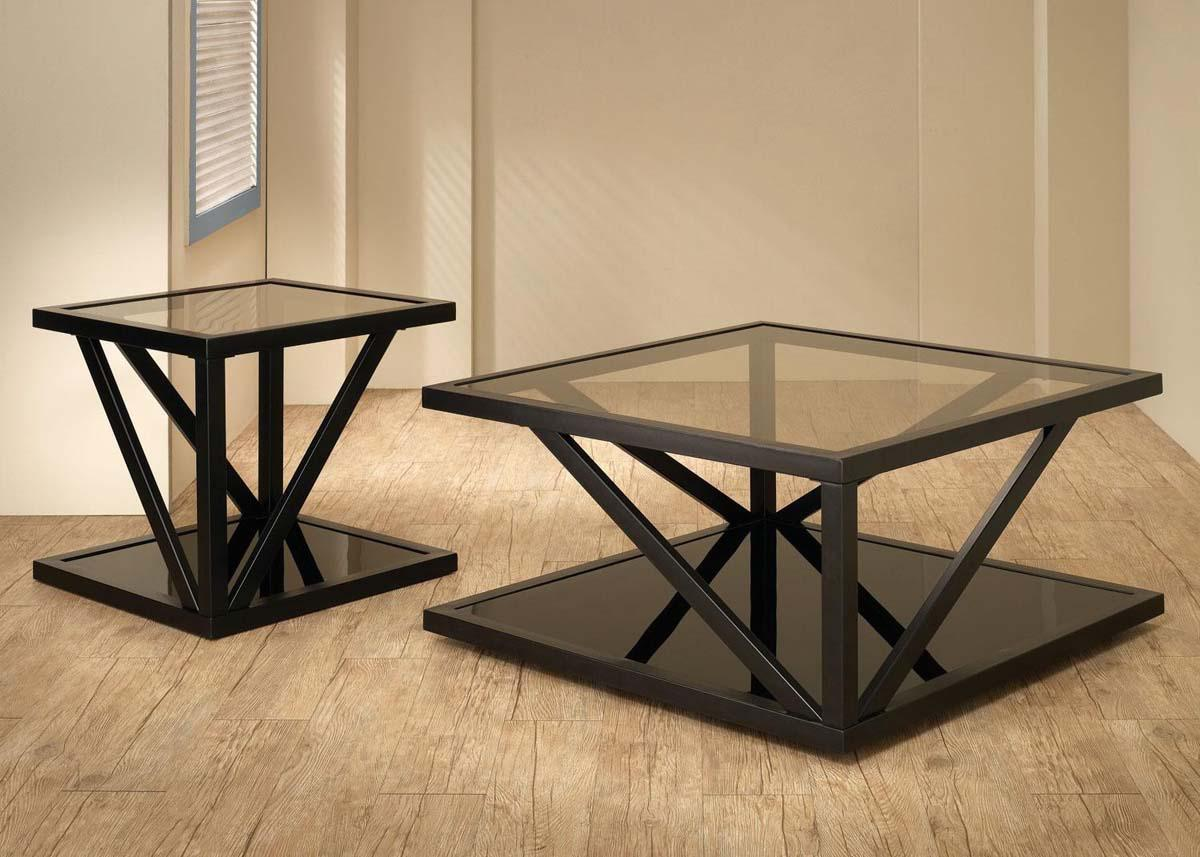Use Glass Top for Contemporary Coffee Tables Placed in Minimalist Room with Natural Oak Flooring