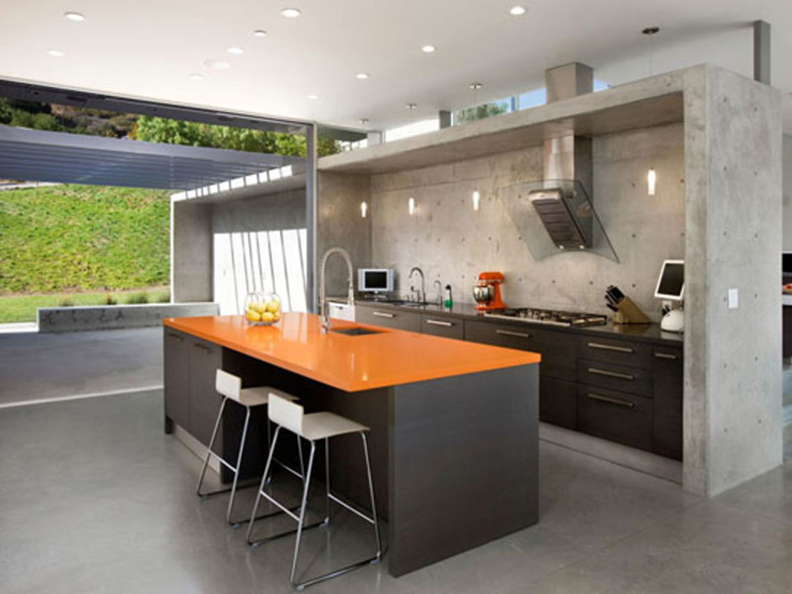 Contemporary kitchen ideas with stainless steel kitchen for Modern kitchen designs with island