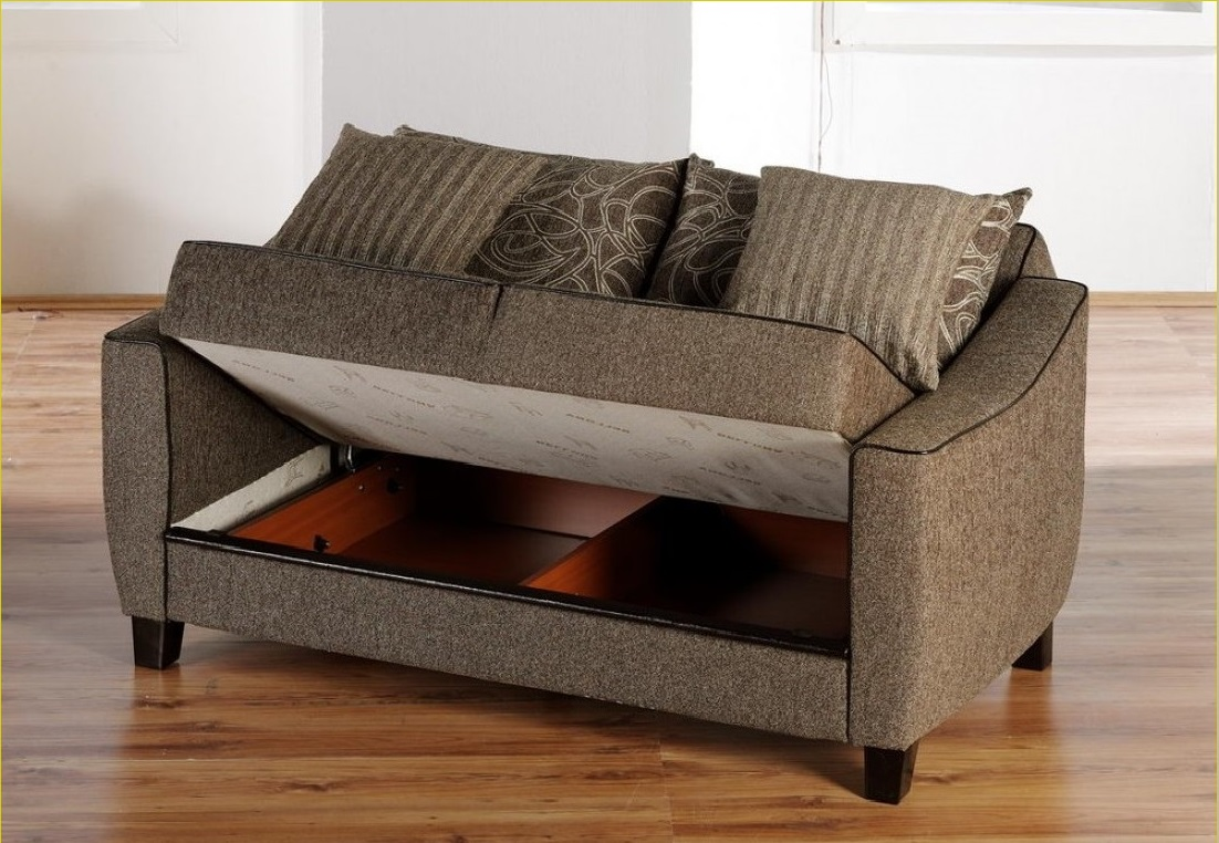 Use this Brilliant Grey Sofa Bed Mattress with Fluffy Cushions on Hardwood Flooring near White Wall