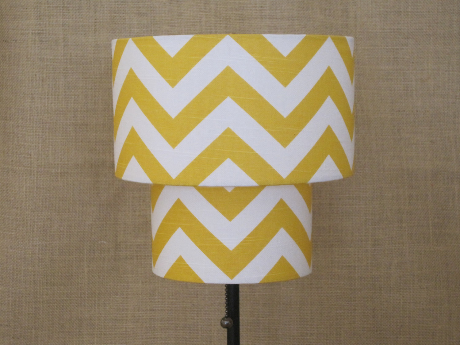 Drum lamp shades lighten up your day midcityeast yellow and white pattern for drum lamp shades in appealing floor lamp near grey wall aloadofball Gallery
