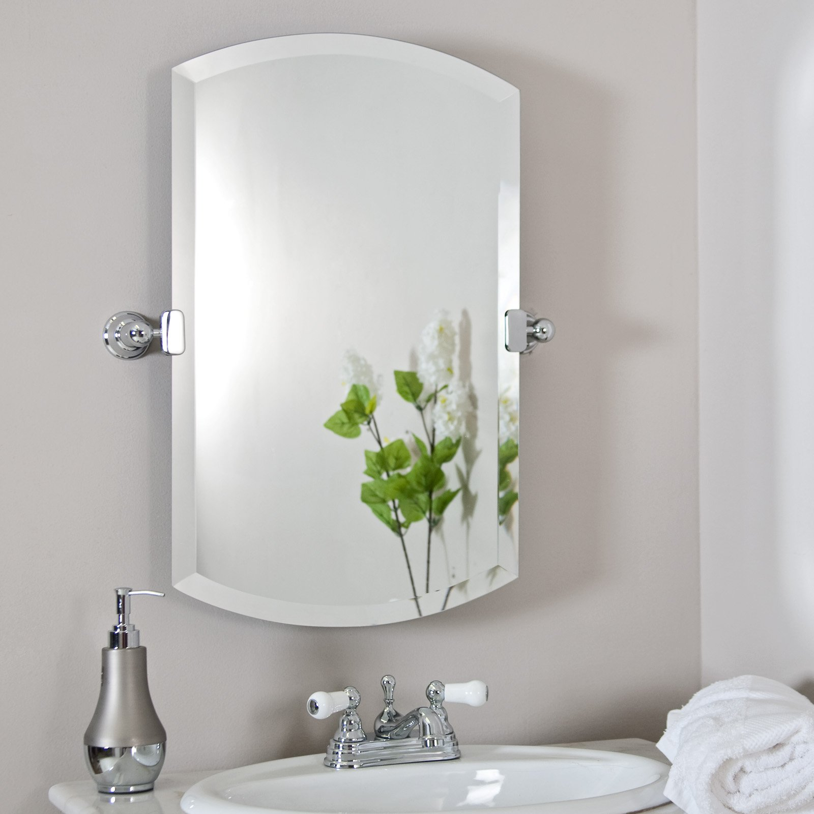 adorable large rectangular bathroom mirror. Adorable Design Of The Bathroom Areas With Grey Wall Added White Sink  And Mirrors For for Bathrooms Decorating Ideas MidCityEast