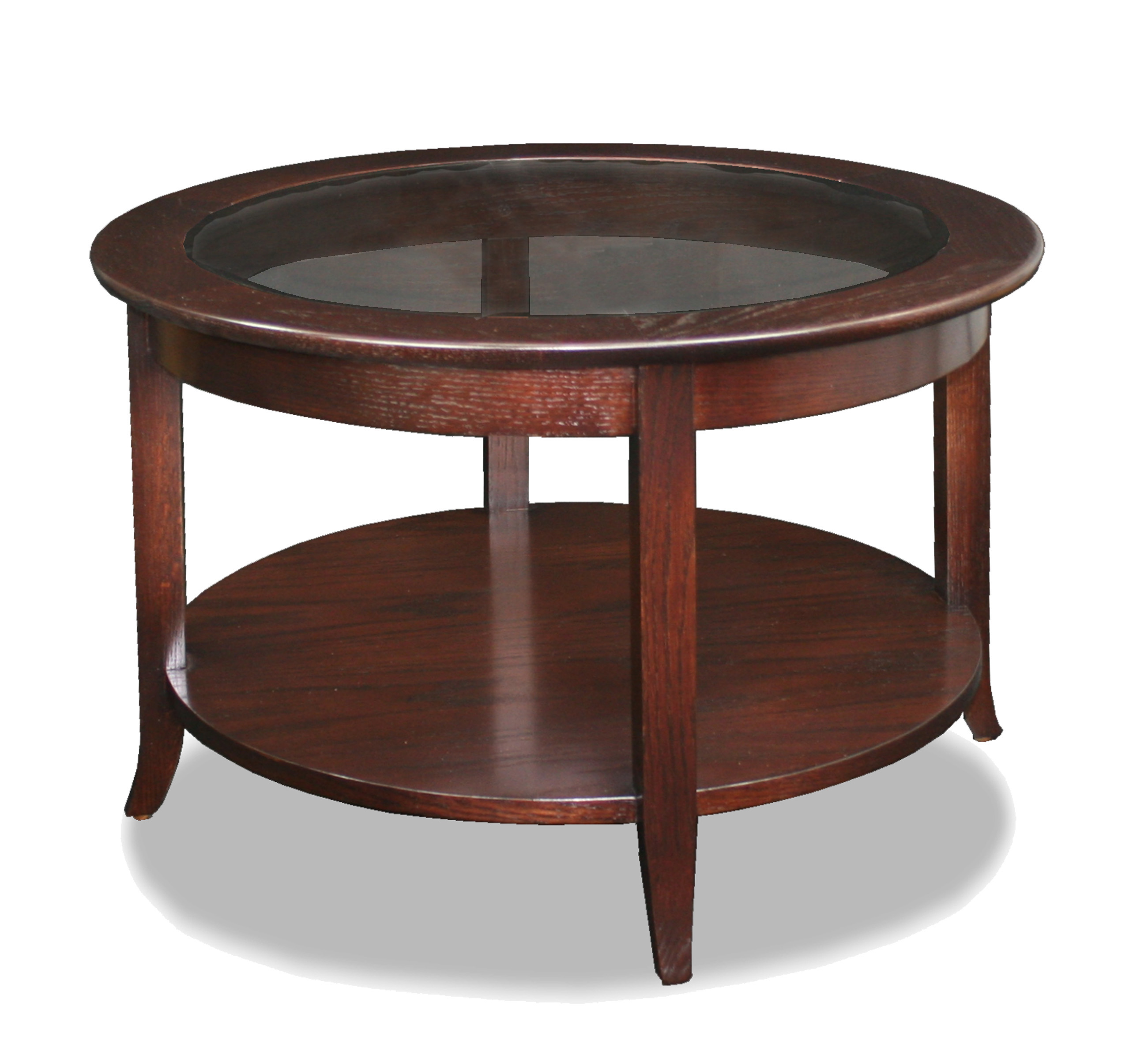 Adorable Design Of The Brown Wooden Oak Materials Of The Round Wood Coffee Table For Living Room Areas