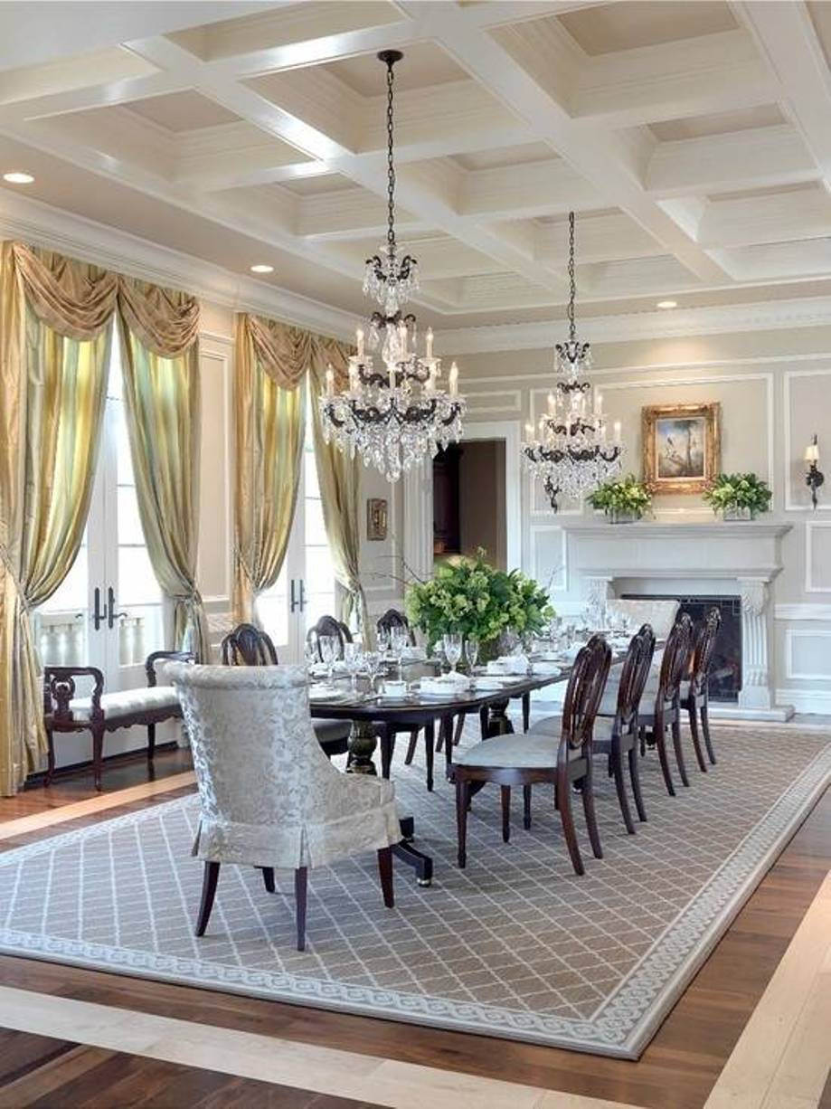 How to create perfect modern dining room midcityeast for Dining room rug ideas
