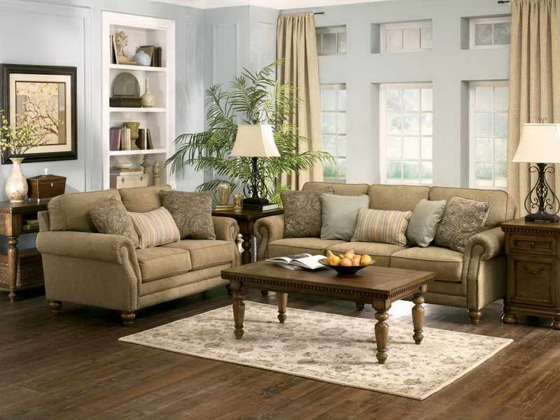 Adorable Sitting Room Ideas Using Charming Sofas and Wooden Coffee Table