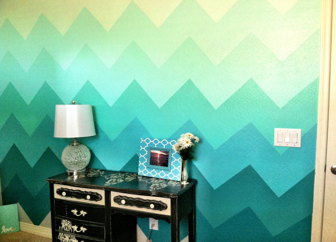 The Various Unique Wall Paint Ideas as the Simple DIY Wall ...