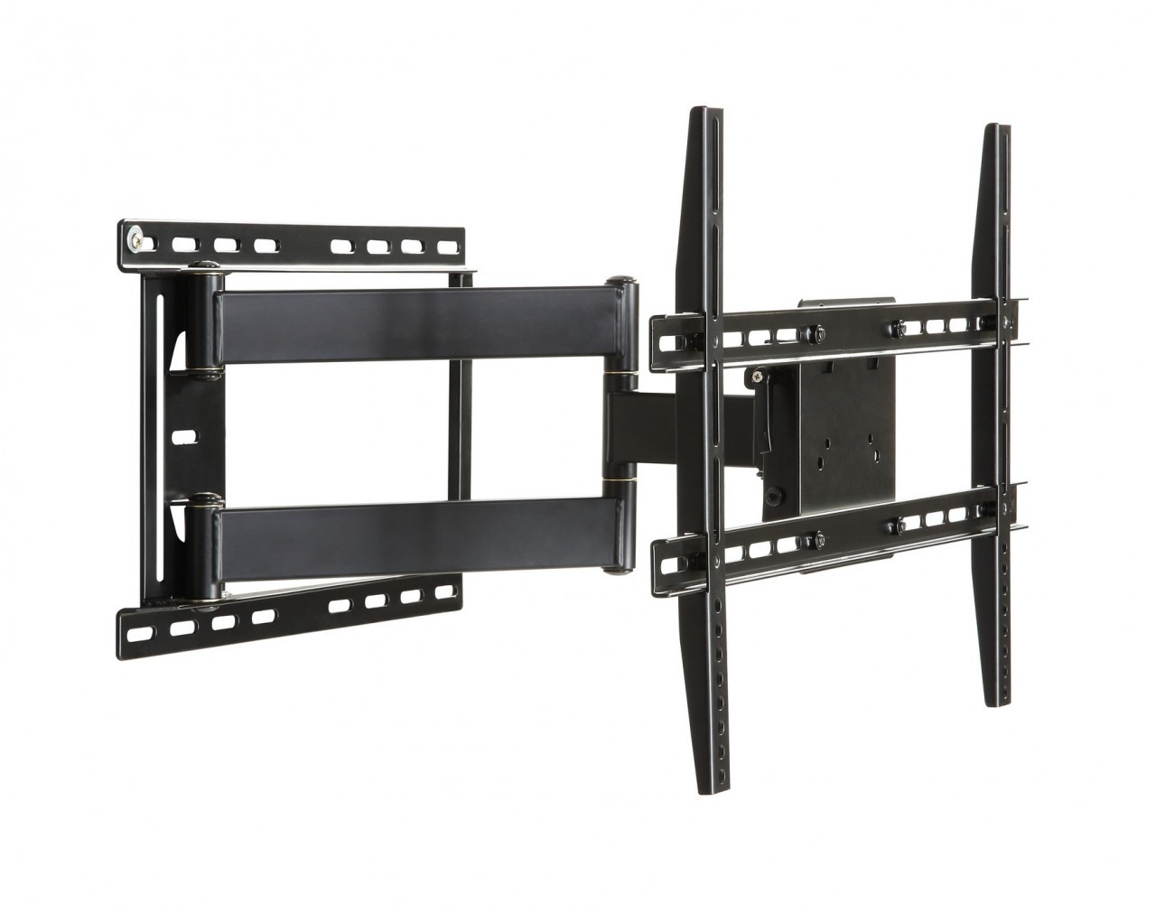 Amazing Design Of The Black Iron Frame To Hold The Tv On The Wall Ideas
