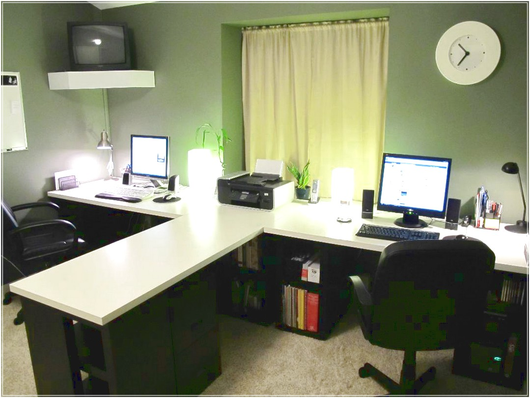 Simple ideas for at home office to boost your productivity for Office table ideas