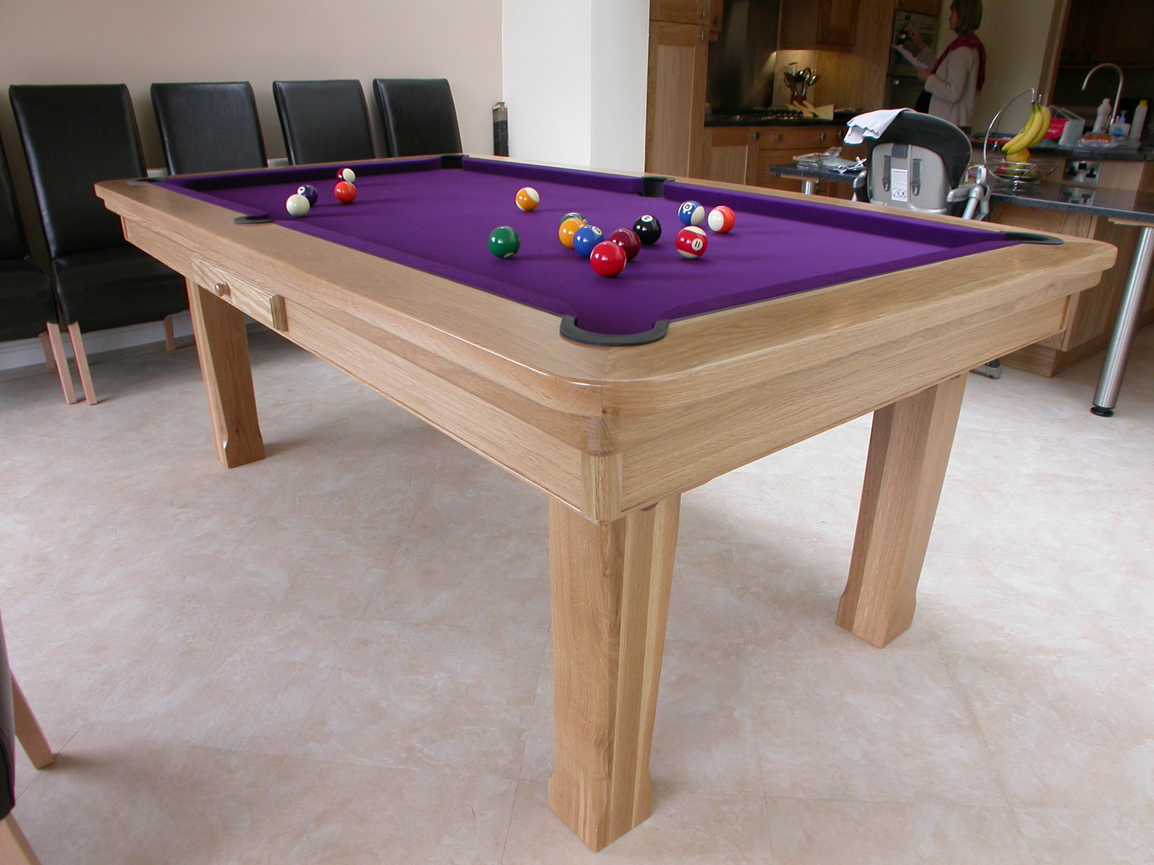 Amazing Design Of The Pool Dining Table With Brown Wooden Materials Added With Purple Countertops Parts Of The Pool