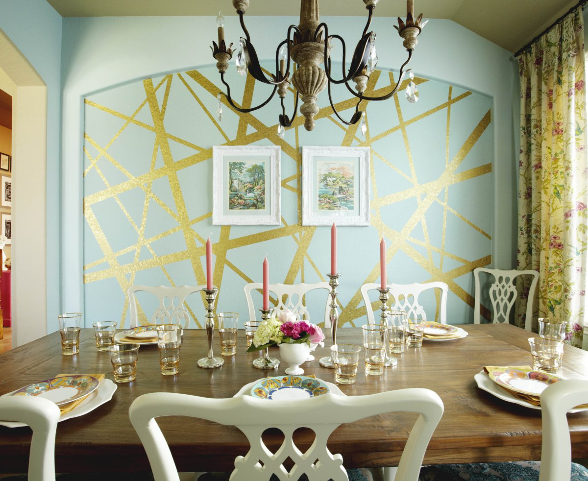 Amusing Design Of The Dining Room Areas With Paint On The Wall Added With Brown Chandeliers Ideas