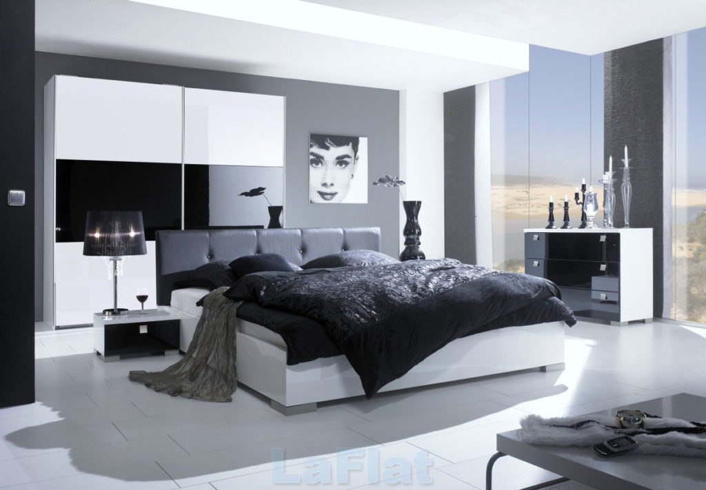 Amusing Design Of The Gray Bedroom Ideas With Grey Wall Added With White Floor Ideas And White Bed Ideas