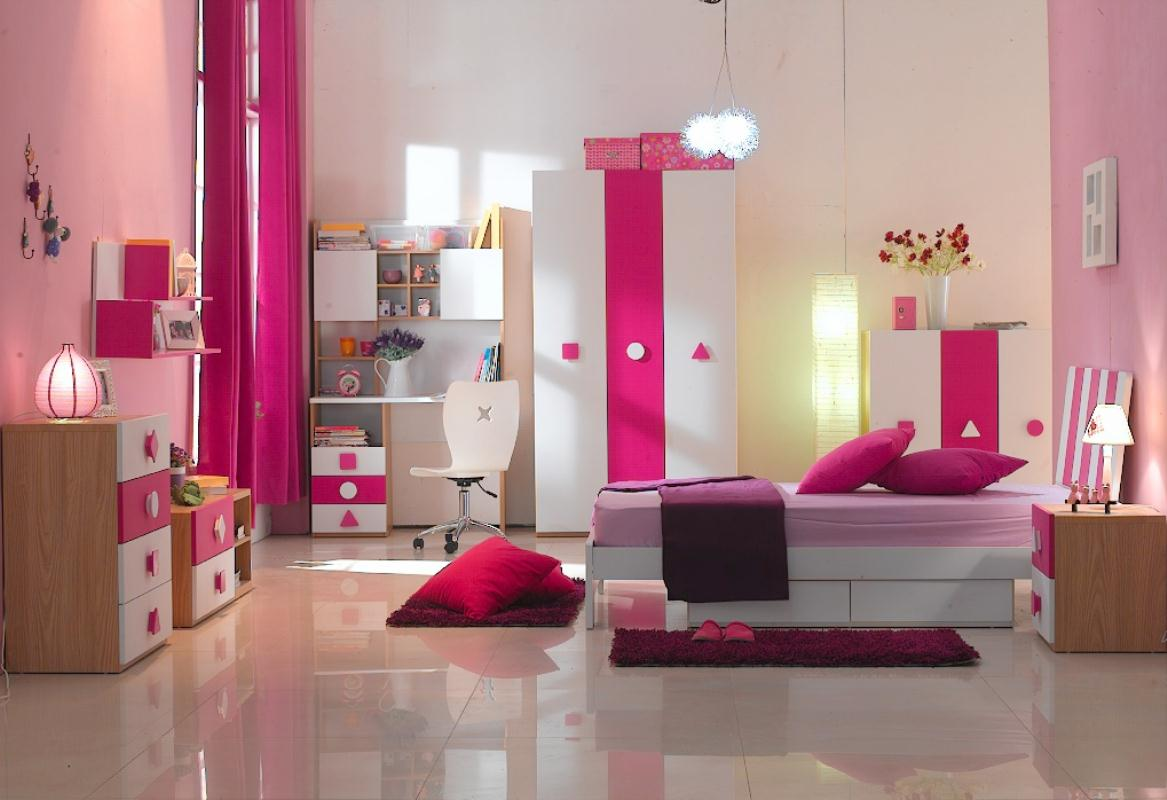 Amusing Design Of The Kids Bedroom Areas With Furniture For Kids Bedroom With Pink Rugs And Brown Wooden Cabinets Ideas