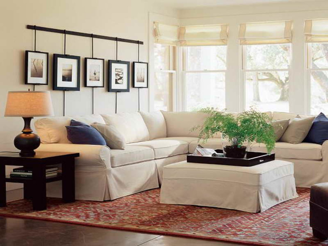Amusing Design Of The White Sofa Added With Brown Wooden Floor And Brown Wooden Side Table As The Barn Living Room Ideas