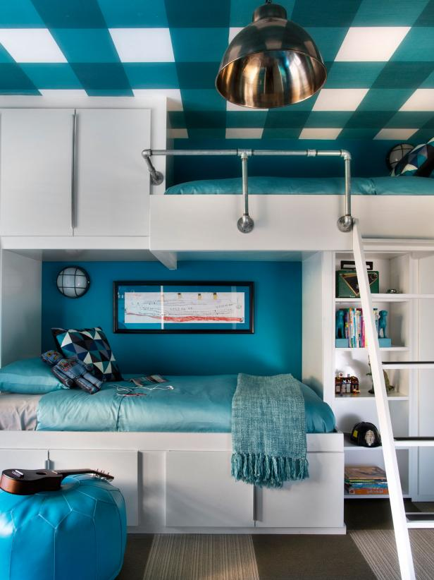 Appealing Chandelier Plus Lush Bunk Bed With Storage again Charming Bench