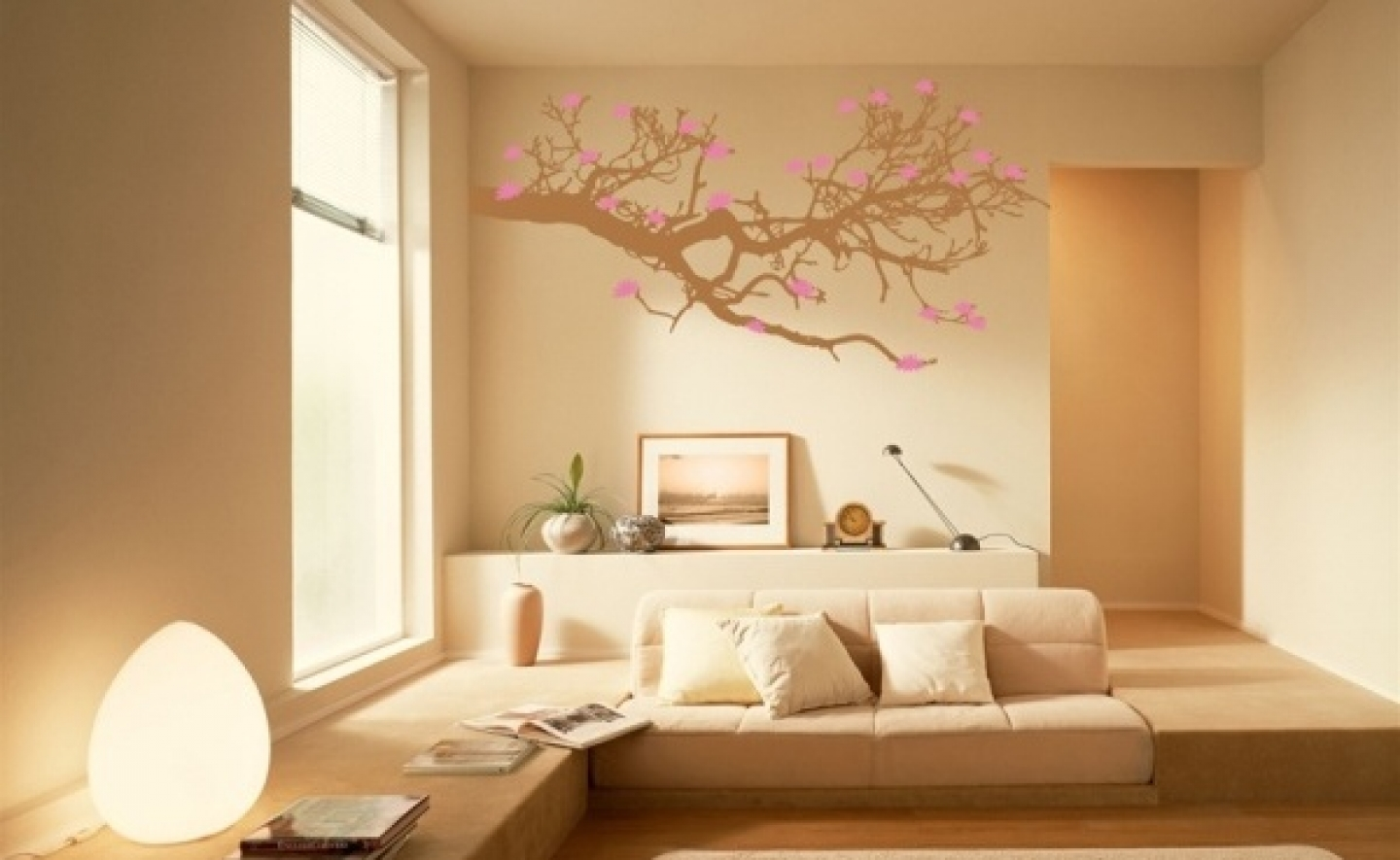 Appealing Design Of The Living Room Areas With Paint On The Wall Added With Brown Floor Ideas As Wall Paint Ideas