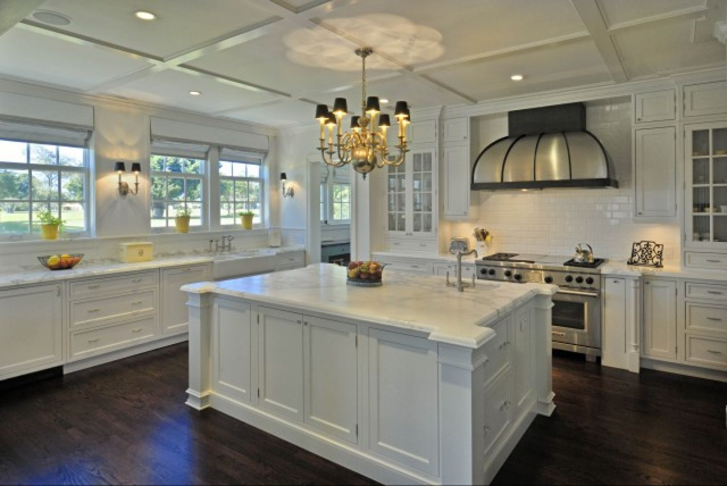 Appealing Furniture Using White Cabinets Kitche also Lurring Chandelier Decor