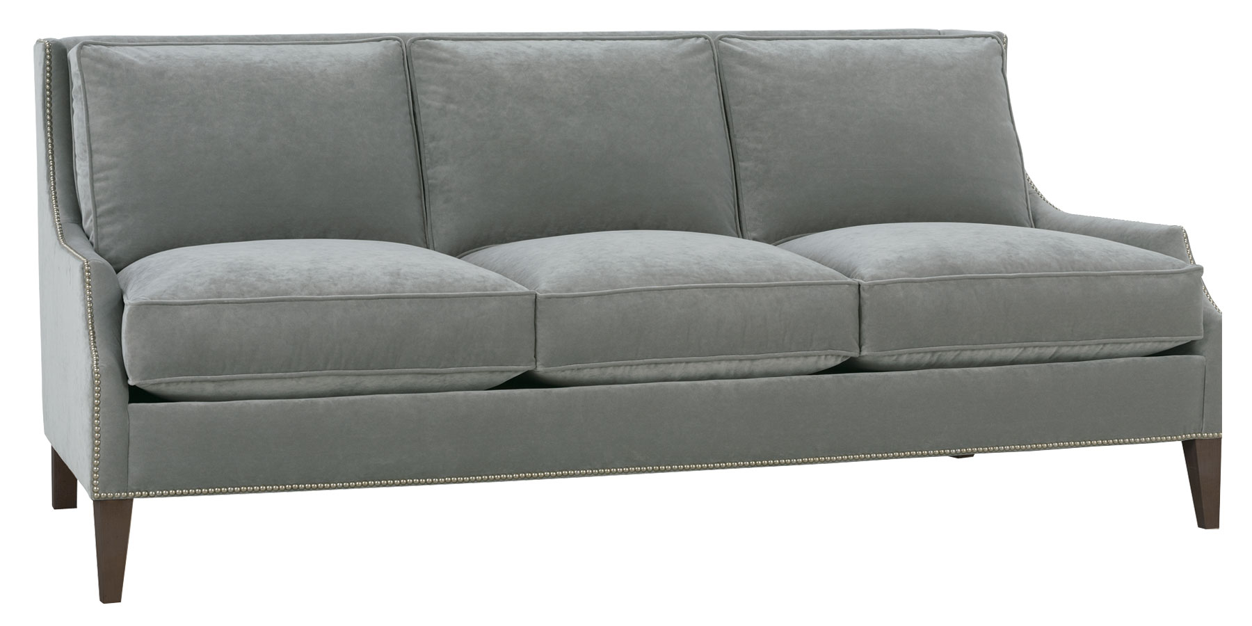 Astonishing Design Of The Grey Fabric Sofa Ideas As The Apartment Size Furniture Ideas