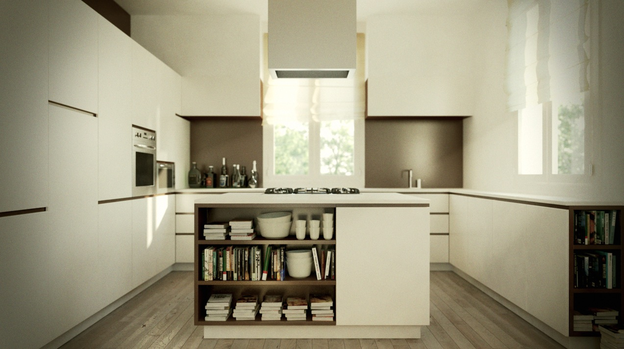 Astonishing Design Of The White Cabinets Ideas Added With Grey Floor Ideas With White Wall And White Kitchen Island Design