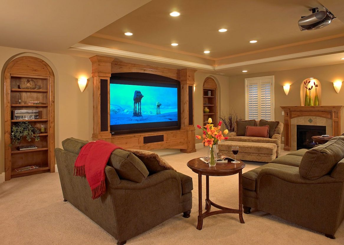Astounding Design Of The Basement Lighting Ideas With Grey Fabric Sofa Ideas Added With White Ceiling & 4 Basement Flooring Ideas to Create Comfortable Basement - MidCityEast