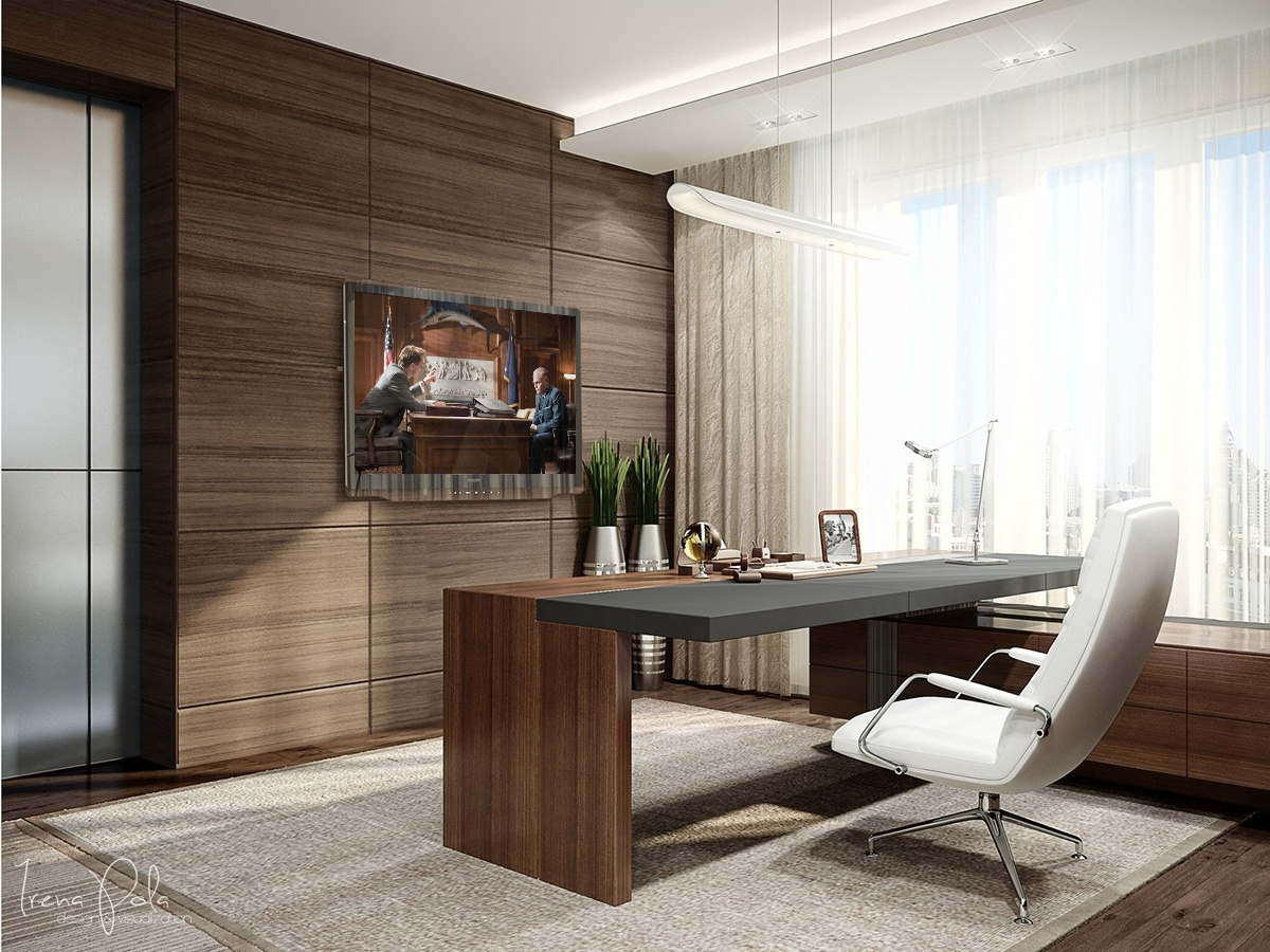 Astounding Design Of The Brown Wall Ideas With Brown Wooden Table And White  Ceiling Of The
