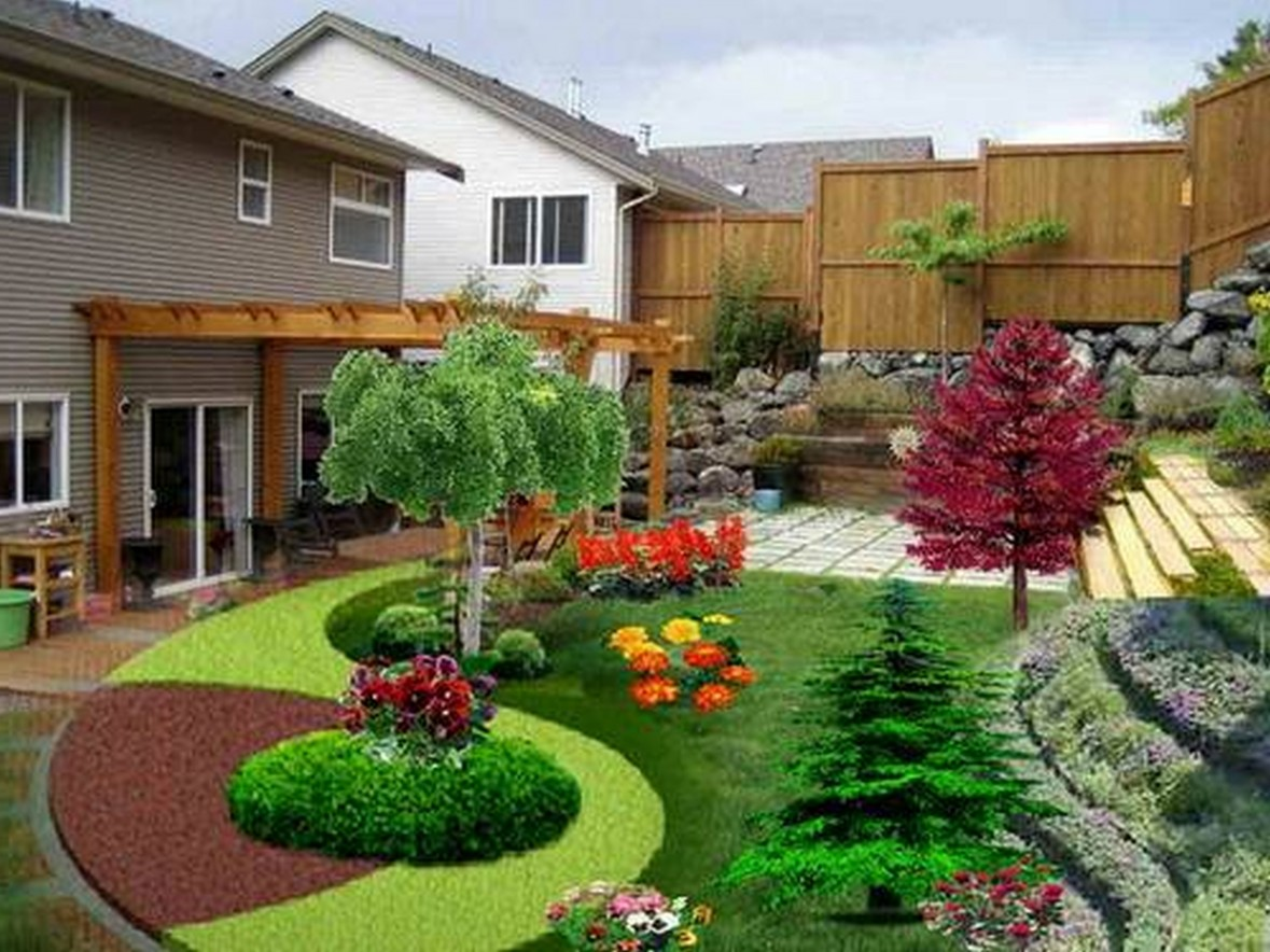 Astounding Design Of The Flower Bed Designs With Purple Flower And So Many Color Flower Ideas