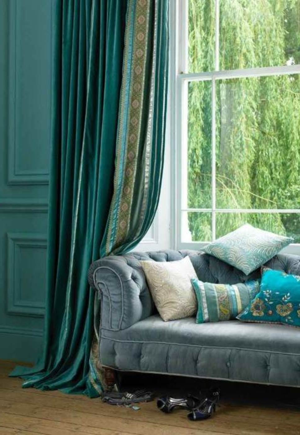Blue curtains for living room - Living Room Curtain Ideas Perfect Interior Design Blue Curtains