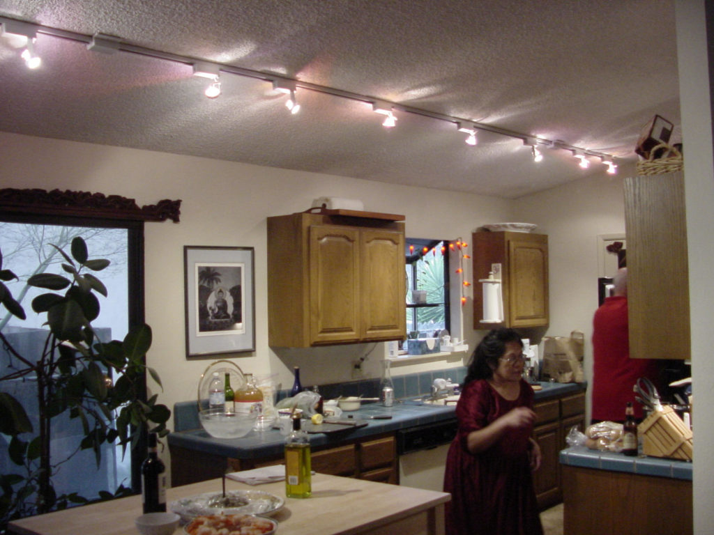 Astounding Design Of The White Ceiling With Long Track Lighting Ideas Of The Kitchen Areas