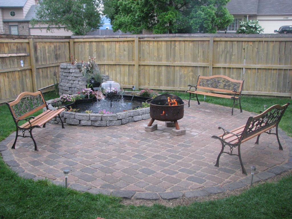 awesome design of the backyard - Fire Pit Design Ideas